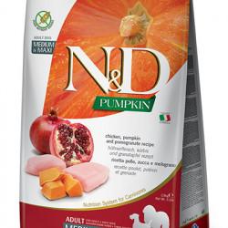 N&D Dog Grain Free Pumpkin Medium Large Pui și Rodie 12 kg