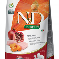 N&D Dog Grain Free Pumpkin Medium Maxi Pui și Rodie 12 kg