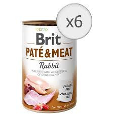 Pachet Economic Brit Pate and Meat Iepure 6 x 400 gr