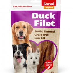 Recompense caini Sanal Dog fileuri de rata 80 g