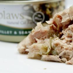 hrană umedă cu fileuri de ton și alge