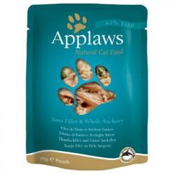 Applaws CAT hrană umedă cu fileuri de ton și anșoa în sos 70 gr