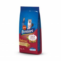 Brekkies Cat Deliciuos cu pui, curcan, legume și cereale