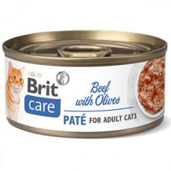 Brit Care Cat Pate Vită cu Măsline 70 gr