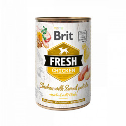 Brit Fresh Pui și cartofi dulci 400 gr