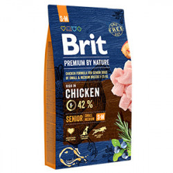 Brit Premium by Nature Senior S & M cu pui 8 Kg