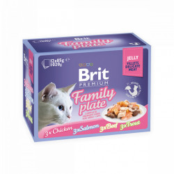 Brit Premium Cat Delicate Multipack Family Plate Fileuri în aspic (pliculețe) 12x85 gr