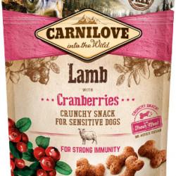 Carnilove Crunchy Snack cu miel și merișoare 200 g