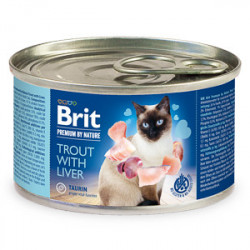 Conservă Brit Premium by Nature Păstrăv și Ficat 200 gr