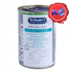 Dr. Clauders Dog Dieta HIGH FIBRE 6 x 400 g