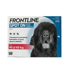 Frontline Spot On XL (peste 40 kg) - cutie cu 3 pipete