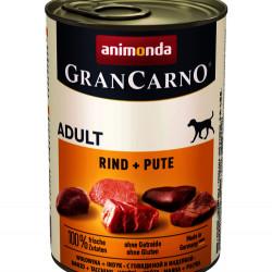 GranCarno Original Adult Vită și Curcan 400 gr