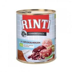 Hrana umeda pentru caini Rinti Adult cu inima de pui 800 g