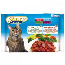Hrana umeda pisici Stuzzy Sterilised cu pui si curcan set 4 plicuri X 100 g