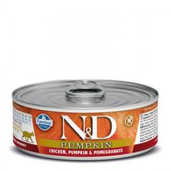 N&D Cat Pumpkin cu pui și rodie 80 gr