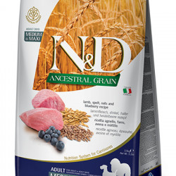 N&D Low Grain Medium & Large Dog cu miel și coacăze 2.5 kg