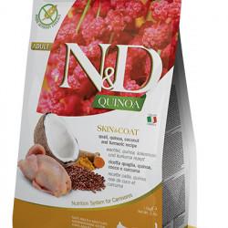 N&D Quinoa Cat Skin&Coat cu prepelita
