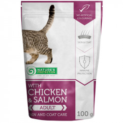 NATURES PROTECTION Cat Skin and Coat with Chicken & Salmon (100 g)