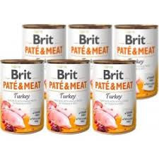 Pachet Economic Brit Pate and Meat Curcan 6 x 400 gr