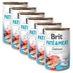 Pachet Economic Brit Pate and Meat Somon 6 x 400 gr