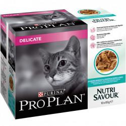 Purina Pro Plan Delicate NUTRISAVOUR cu Peste Oceanic 10 x 85 gr