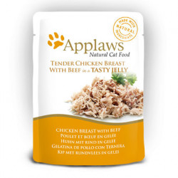 Applaws CAT hrană umedă cu piept de pui și vită în aspic 70 gr