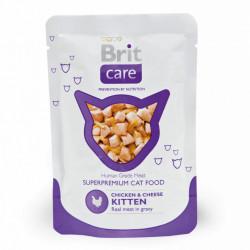 Brit Care Kitten Pui și brânză 80 gr (pliculeț)