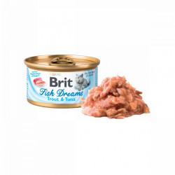Brit Fish Dreams Păstrăv și Ton 80 gr (conservă)