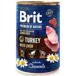 Brit Premium by Nature Junior Curcan și ficat 400 gr