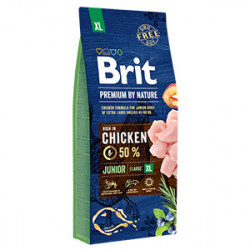 Brit Premium by Nature Junior XL cu pui 15 kg