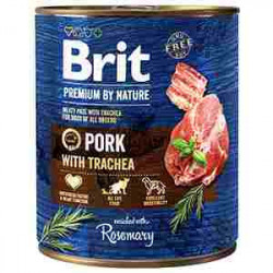 Brit Premium by Nature Porc și trahee 800 gr