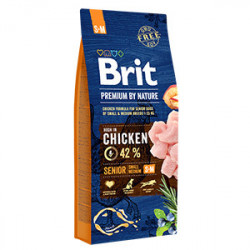Brit Premium by Nature Senior S & M cu pui 15 Kg