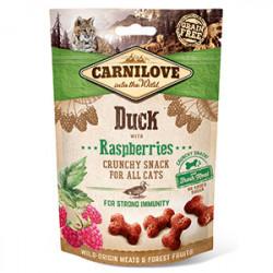 Carnilove CAT Crunchy Snack cu rață și zmeură 50 gr