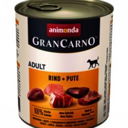 GranCarno Original Adult Vită și Curcan 800 gr