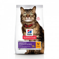Hill's SP Feline Adult Sensitive Stomach & Skin cu pui