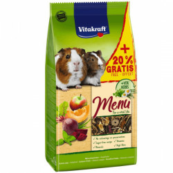 Hrana pentru porcusori de Guineea Vitakraft Premium Menu 1kg+20% Gratis