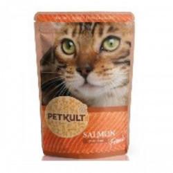 Hrana umeda pentru pisici Petkult cu somon 100 g