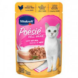 Hrana umeda pentru pisici Vitakraft Plic Poesie Pui in File in Sos 85 g