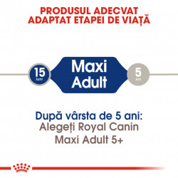 Hrana uscata caini ROYAL CANIN Maxi Adult produs adaptat etapei de viata