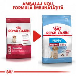 Hrana uscata caini ROYAL CANIN Medium Puppy ambalaj nou