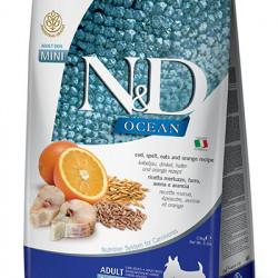 N&D Dog Mini Ocean cu cod și portocală