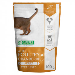 NATURES PROTECTION Cat Sterilized with Poultry & Cranberries (100g)