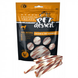 PET'S DESSERT LSC-42 CHICKEN & COD SANDWICH - PUNGA 80 Gr