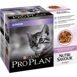 Purina Pro Plan Junior NUTRISAVOUR cu carne de Curcan 10 x 85 gr