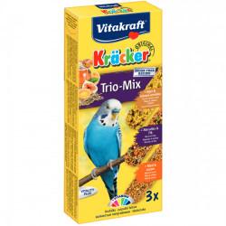 Batoane pentru perusi Vitakraft Kracker Trio Ou/Caise/Miere 80 g