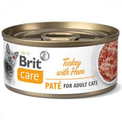 Brit Care Cat Pate Curcan cu Șuncă 70 gr