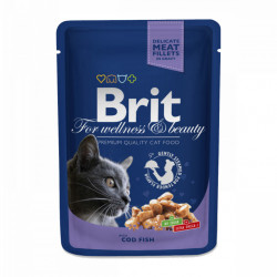 Brit Premium Cat cu carne de Cod 100 gr (pliculeț)