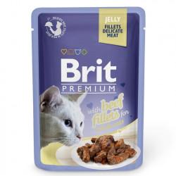 Brit Premium Cat Delicate Fileuri de Vită în aspic 85 gr (pliculeț)