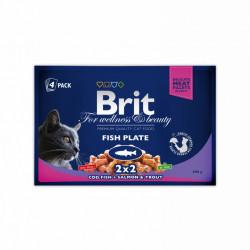 Brit Premium Cat Multipack felii de pește (pliculețe) 4x100 gr