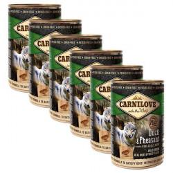Carnilove Adult Dog Pate Rață si Fazan 6 x 400 g